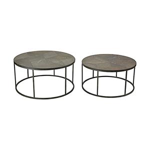 Circa Hazelnut and Grey Iron 36-Inch Coffee Tables