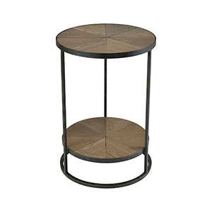 Circa Hazelnut and Rust 18-Inch Accent Table