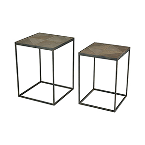 Circa Hazelnut and Rust 16-Inch Accent Table