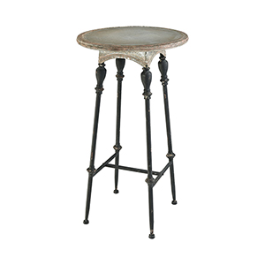 Yonkers Galvanized Steel and Rust 24-Inch Accent Table