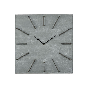 New Grey Iron and Concrete 26-Inch Clock