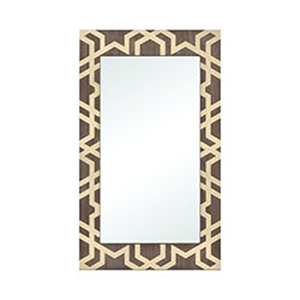 Habana Gold and Salvaged Brown Oak 27-Inch Mirror