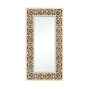 Habana Gold and Salvaged Brown Oak Mirror