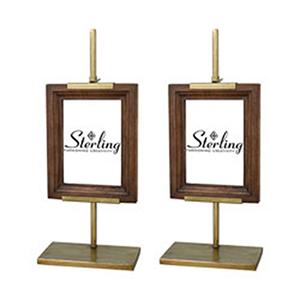 Rockford Mahogany and Gold 17-Inch Fames - Set of 2