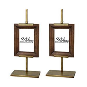 Rockford Mahogany and Gold Frames - Set of 2