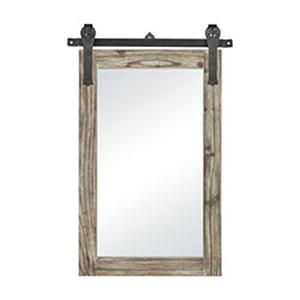 Los Olivos Salvaged Grey Oak and Bronze 36-Inch Mirror