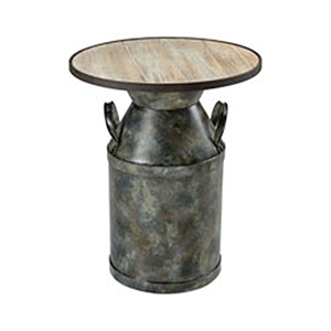 Spacious Skies Wood Tone and Antique Black End Table