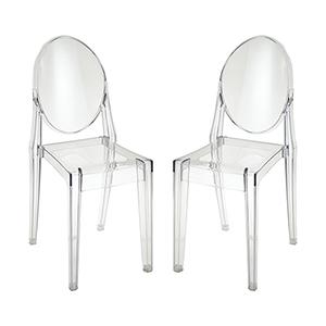 Vanish Clear 19-Inch Chair