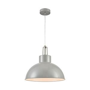 Canaveral Light Grey One-Light 16-Inch Pendant