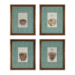 Nest and Eggs: 15 x 18 Wall Art, Set of Four