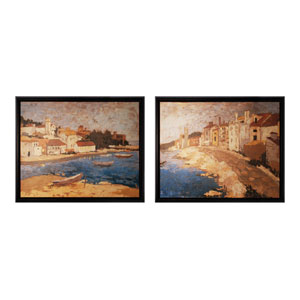 Rattan Wood 33.5-Inch Floater Wall Art, Set of 2