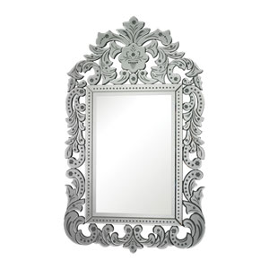 Clear 56-Inch Arched and Crowned Mirror