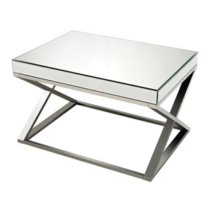 Klein Chrome Mirror And Stainless Steel Coffee Table