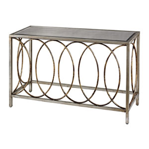Gold and Silver 31-Inch Console Table