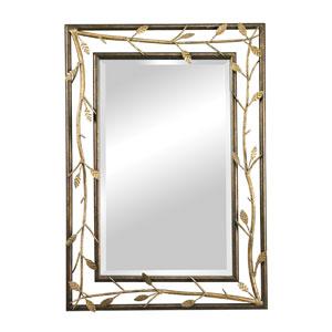 Bakewell Bronze and Gold 39.875-Inch Rectangular Mirror