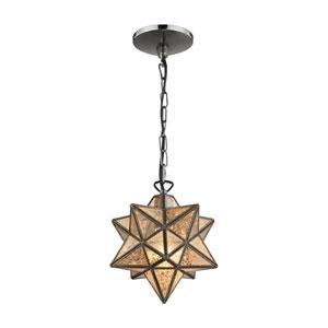 Moravian Bronze Antique Mercury One-Light 9-Inch Mini Pendant