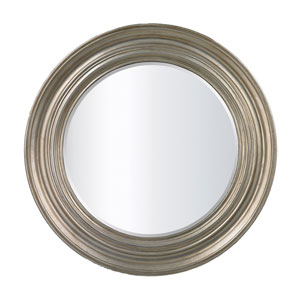 Fillerton Round Mirror in Antique Silver Leaf