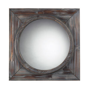 Reclaimed Wood 24-Inch Round Mirror