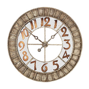 Round Metal Outdoor Wall Clock