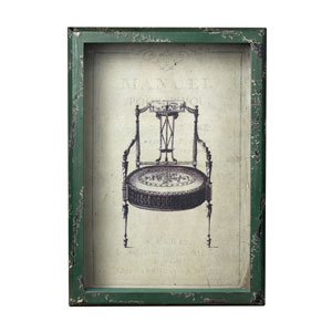 Distressed Verde French Antique Chair