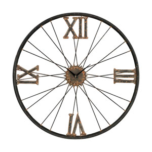 Iron Rust and Bronze 24-Inch Wall Clock