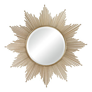 Gold Leaf 41-Inch Round Mirror