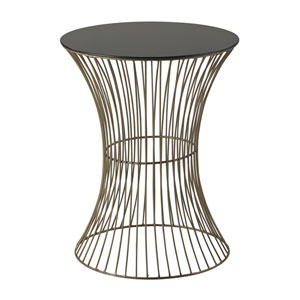 Thurcott Gold and Black 20-Inch End Table