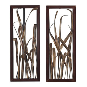 Hayfield Gold and Bronze 27-Inch Wall Art, Set of 2