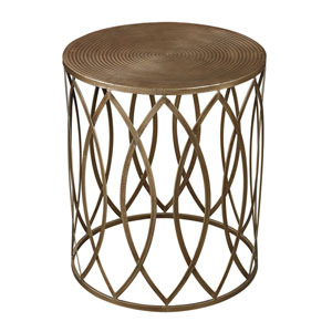 Sutton Gold Paint and Antique Champagne 20-Inch Accent Table