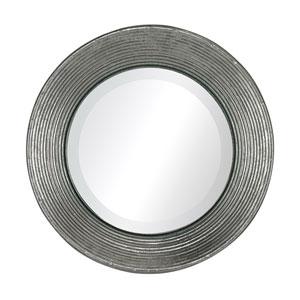 La Quinta Bright Silver Leaf 10-Inch Round Mirror