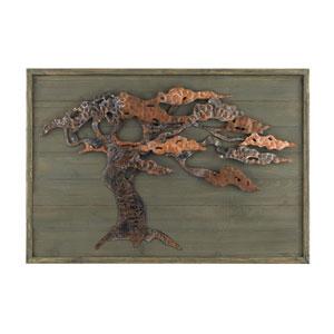 Wood and Metal Tree: 31 x 22-Inch Wall Art