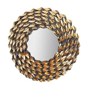 Gold Fluted Wreath Mirror