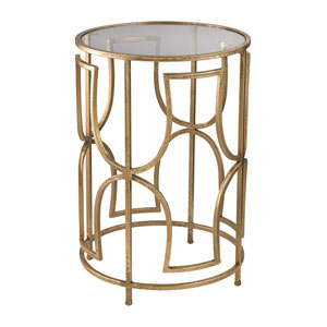 Gold Modern Forms Accent Table