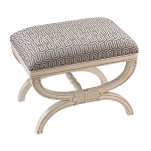 Grey and White 19-Inch Bench