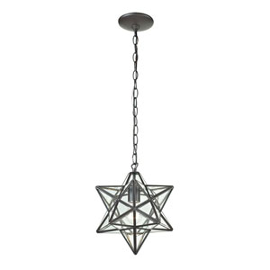 Star Clear 10-Inch One Light Lantern Pendant