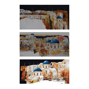 Alberto De Rattan Wood 12-Inch Wall Art, Set of 3