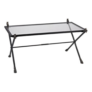 Bronze and Clear Glass 19-Inch Coffee Table