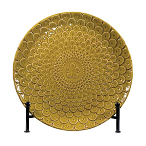 Chartreuse Glaze 17-Inch Decorative Charger Plate