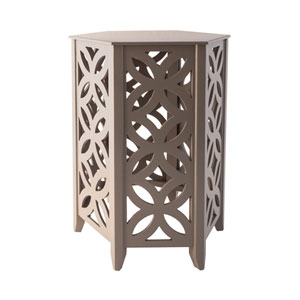 Majorca Cool Grey Accent Table