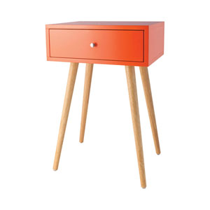 Astro Tangerine Accent Table