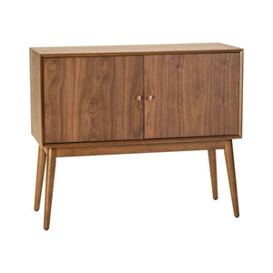 Dipper Walnut Veneer Cabinet