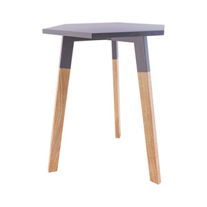 Sky Pad Cool Grey Accent Table