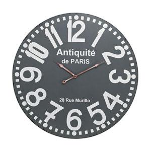 Grey Antique Wall Clock