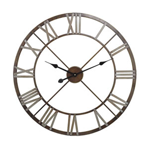 Clock Bronze with Grey Wall Clock