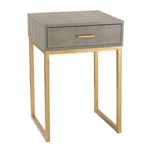 Grey Shagreen Side Table