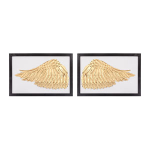Set of 2 Ikaros Gold White Wall Décor