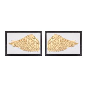 Set of 2 Ikaros Gold White Wall Décor
