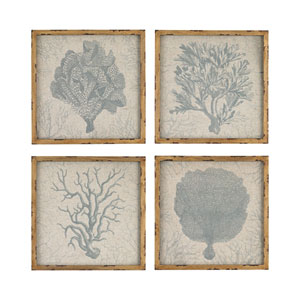 Coral: 16 x 16-Inch Wall Art, Set of Four