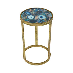 Krete Blue Agate Accent Table