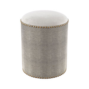 Sands Point Grey Faux Shagreen Bench